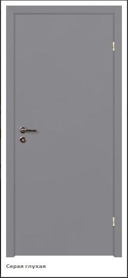 Дверь финка серая