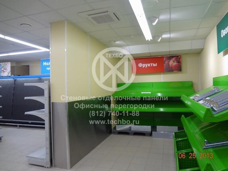 отделка стен магазина негорючие панели