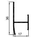 аш профиль стыковочный 12мм - алюминиевый профиль для панелей