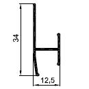 аш профиль стыковочный 8мм - алюминиевый профиль для панелей