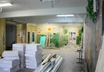 монтаж стеновых панелей на декоративный профиль, гипсовиниловые панели випрок, панели техбо, техбо гкл винил, гипсовинил, отделка стеновыми панелями, финишная отделка помещения, гипсовинил